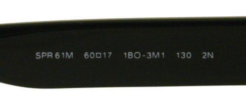 NEW PRADA SUNGLASSES SPR 61M BLACK 1BO 3M1 SPR61M AUTH