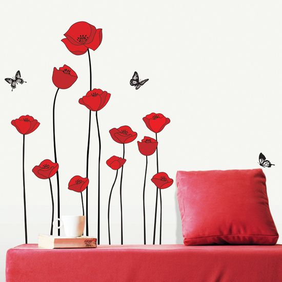 Removable Wall Decals Home Decor Art Flower Vinyl Mural Wall Stickers