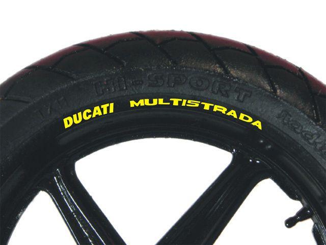 DUCATI MULTISTRADA 1100S Wheel Rim Stickers Decals Set