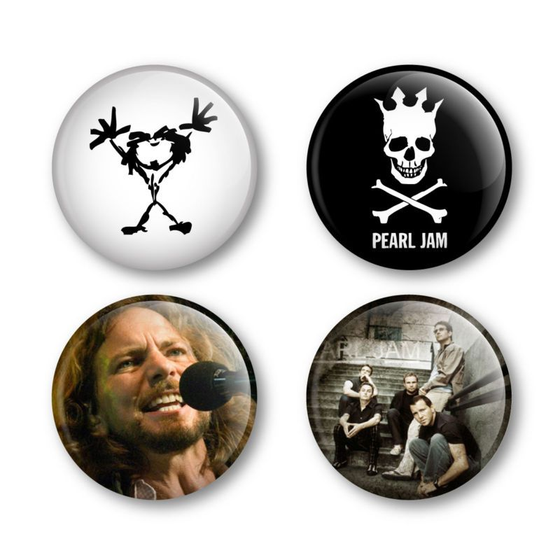 Pearl Jam Eddie Vedder Badges Buttons Pins Tickets  New