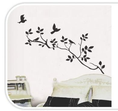 TREE & BIRDS Removable Wall Sticker Decal Kids & Adults